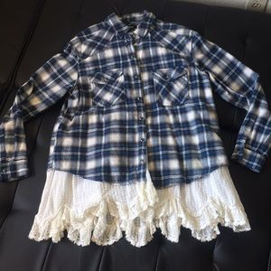 BDG fringed Flannel Shirt